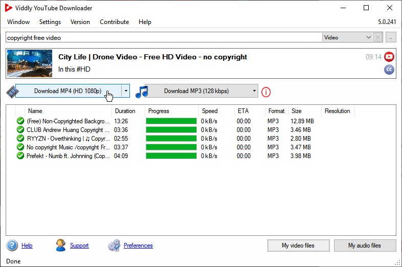 Vidd.ly YouTube downloader and converter
